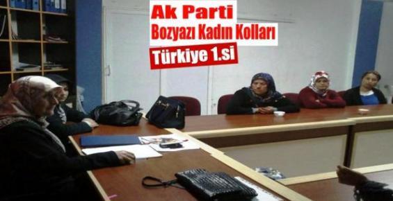Ak Parti Bozyazı Kadın Kolları Türkiye Birincisi
