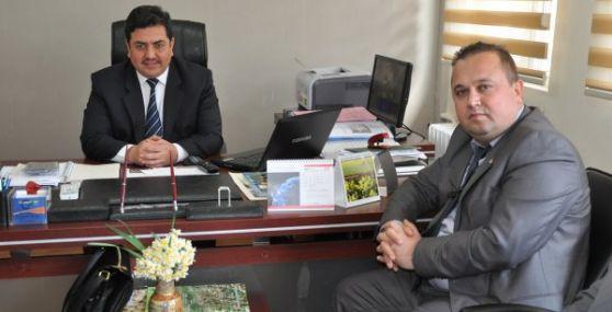 AK Parti İlçe Başkanı Hakkı Meniz Tarım Müdürü Erdoğan'ı Ziyaret Etti