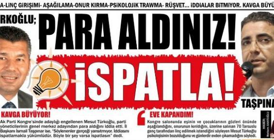 AK Parti Mersin'de Rüşvet İddiaları