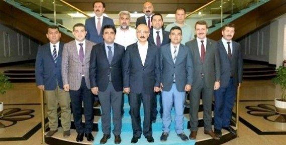 AK Parti Mersin'den Bakan Elvan'a Hayırlı Olsun Ziyareti