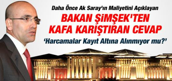 AK Saray'ın Harcamaları Kayıtlı Değil