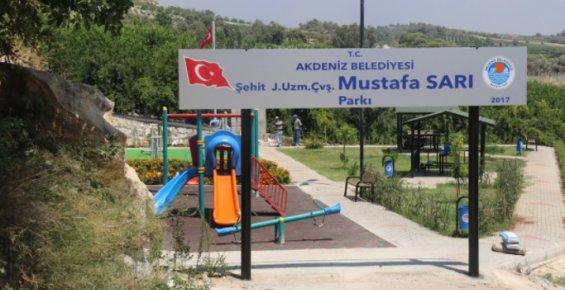Akdeniz Belediyesi Şehitlerin Adlarını Parklarda Yaşatacak