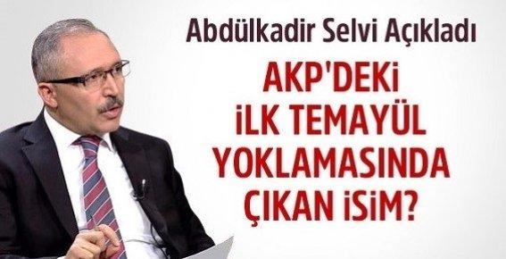 AKP'deki Oylamadan Hangi İsim Çıktı?