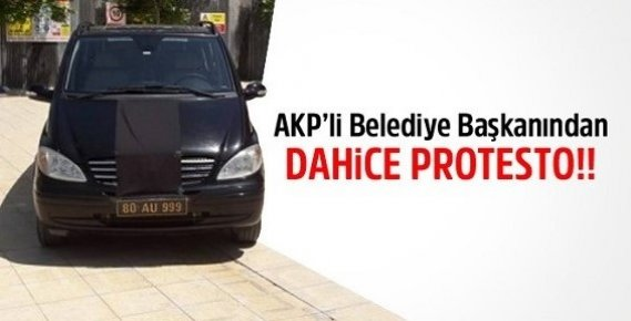 AKP'li Belediye Başkanından Dahice Protesto!