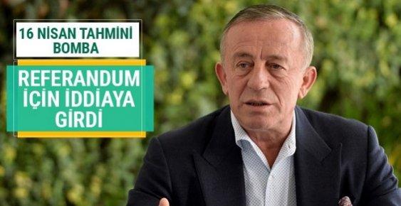 Ali Ağaoğlu Referandum İçin İddiaya Girdi Yok Böyle Tahmin