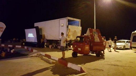 Anamur'da Açık Hava Sineması Heyecanı
