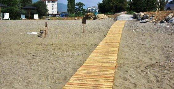 Anamur'da 'Engelli Plajı' Hazırlandı.
