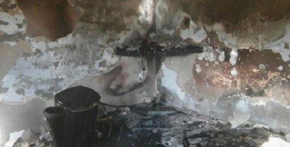 Anamur'da Ev Yangını