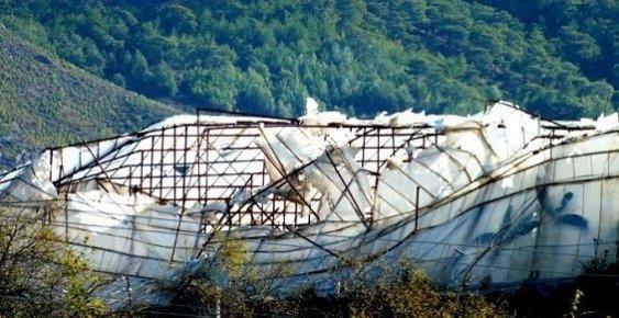 Anamur'da Seraları Fırtına Vurdu.