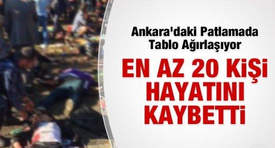Ankara'da Korkunç Patlama: 20 KİŞİ HAYATINI KAYBETTİ