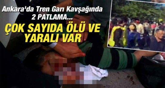 Ankara'da Patlama: Çok Sayıda ÖLÜ ve Yaralı Var