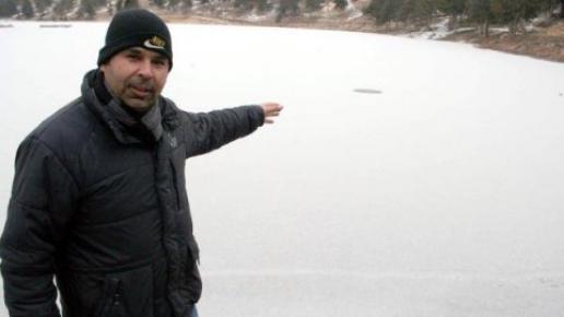 Aşırı Soğuklar Nedeniyle Mersin'de Gölet Dondu