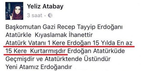 Atatürk Vatanı 1 Kere, Erdoğan 15 Kere Kurtarmıştır.