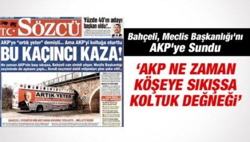 Bahçeli, Meclis Başkanlığı'na AKP'yi Buyur Etti