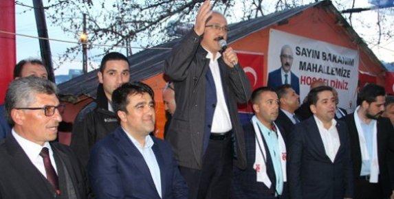 Bakan Elvan ve Başkan Gültekin Mezitli'nin En Tepesinde