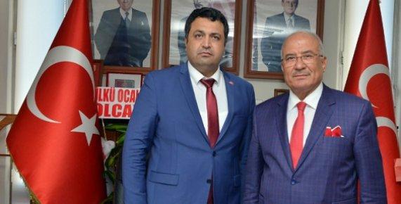 """Başkan Kocamaz'dan, MHP'nin Yeni İl Başkanı Gölgeli'ye """"Hayırlı Olsun"""" Ziyareti"""