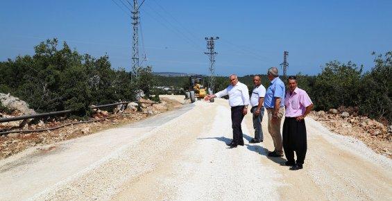 Başkan Tollu, Yol Yapım Çalışmalarını İnceledi