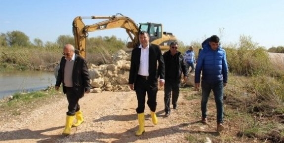 Başkan Turgut, Taşkından Zarar Gören Tarım Arazilerini İnceledi