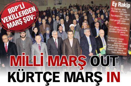 BDP'li Vekillerden Kürtçe Marş Şov