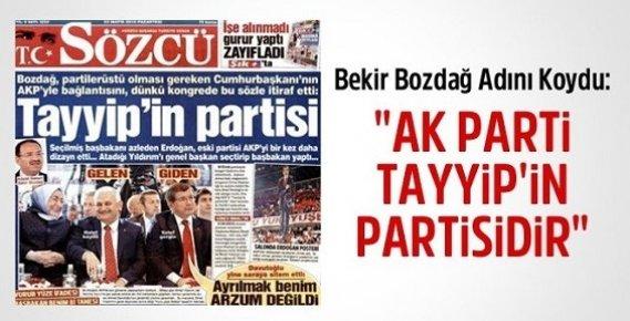 Bekir Bozdağ Adını Koydu: AK Parti Tayyip'in Partisidir
