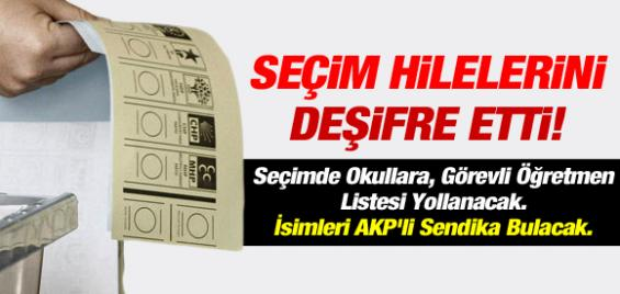 Berberoğlu Seçim Hilelerini Deşifre Etti
