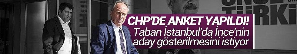 CHP'de Anket Yapıldı, Taban İstanbul'da İnce'nin Aday Gösterilmesini İstiyor