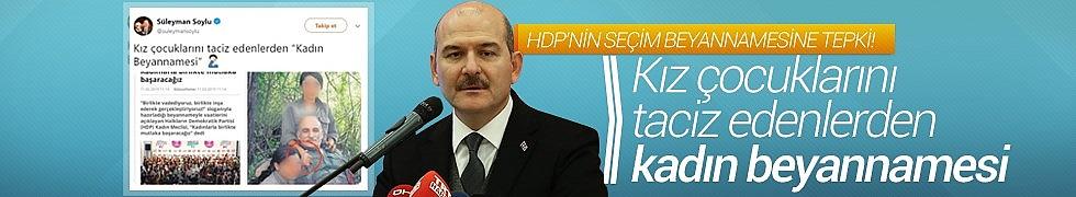 HDP'nin Seçim Beyannamesine Süleyman Soylu'dan Tepki