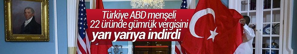 Türkiye ABD Menşeli 22 Üründe Gümrük Vergisini Yarıya İndirdi