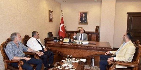 Borsa ve da Başkanlarından Vali Çakacak'a Destek Ziyareti