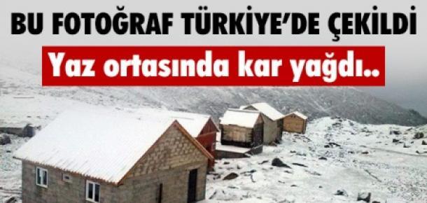 Bu Fotoğraf Yaz Ortasında Türkiye'de Çekildi