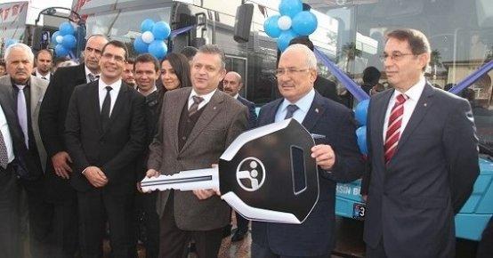 Büyükşehir Belediyesi  11 Yeni Engelsiz körüklü Otobüsü Hizmete Soktu