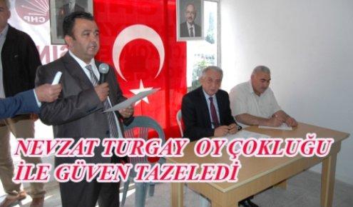CHP Bozyazı İlçe Başkanlığına Nevzat Turgay Yeniden Seçildi