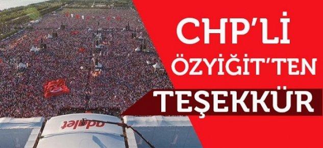 CHP Mersin İl Başkanı Abdullah Özyiğit'ten Adalet Mitingi İçin Teşekkür