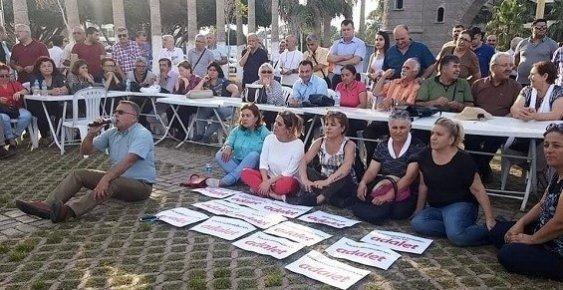 CHP Mersin'de Adalet Nöbetin'de