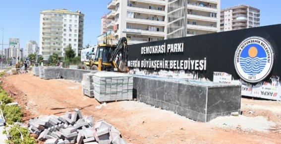 Demokrasi Kavşağı'na Demokrasi Parkı Yapılıyor