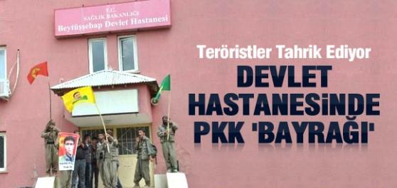 Devlet Hastanesi'nde PKK Şovu