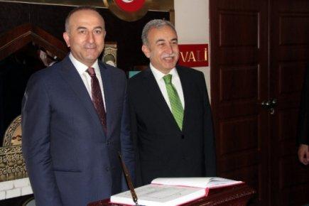Dışişleri Bakanı Çavuşoğlu, Adana'da