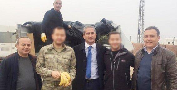 El Bab'ta Görev Yapan Mehmetçiğe Anamur'dan 3.5 Ton Muz Gönderildi