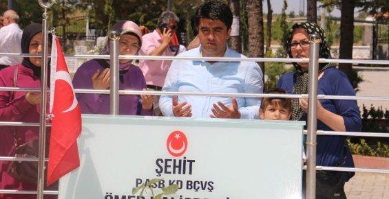 Ercik, Ömer Halisdemir'in Kabrini Ziyaret Etti