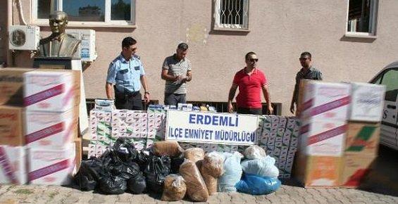 Erdemli Polisinden Kaçakçılara Operasyon