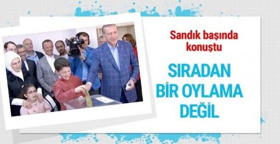 Erdoğan: Bu Referandum Sıradan Bir Oylama Değil