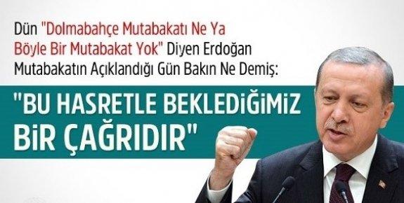 Erdoğan Dolmabahçe Mutabakatı İçin Daha Önce Ne Demişti?