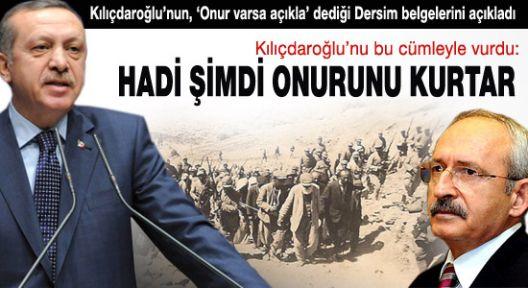 Erdoğan Kılıçdaroğlu'nu Dersim ile vurdu