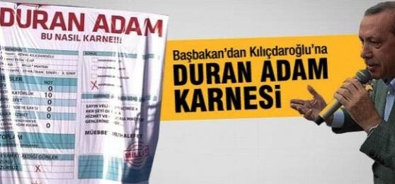 Erdoğan'dan 'Duran Adam' Karnesi