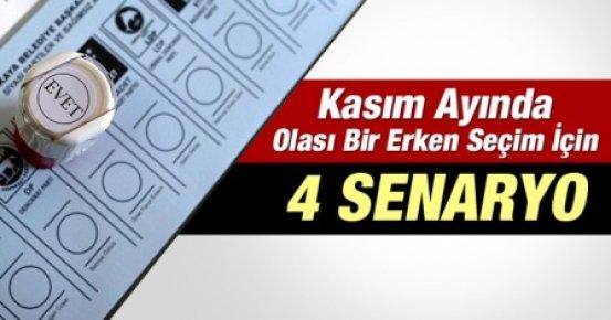 Erken Seçim İçin 4 SENARYO?