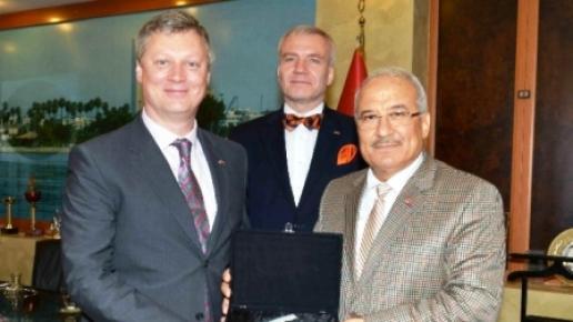 Estonya Büyükelçisi Haljas'tan Başkan Kocamaz'a Ziyaret