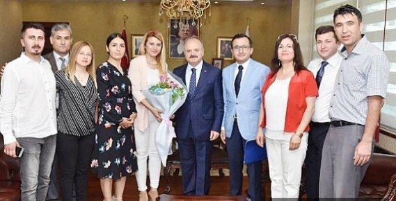 Gülnarlılar Derneği Yönetiminden Vali Çakacak'a Ziyaret