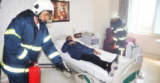 Hastanede, Yangın Tatbikatı
