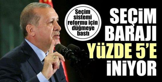 Hazırmısın Türkiye...Seçim Barajı %5'e İniyor