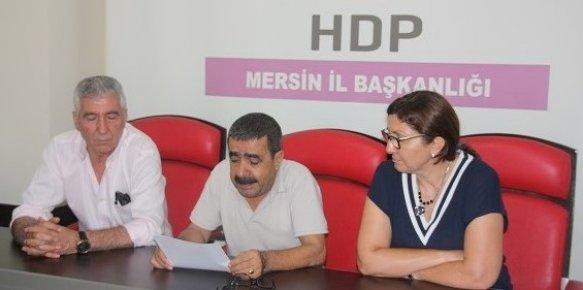 HDP; Mersin'de Gözaltına Alınanlar Serbest Bırakılsın